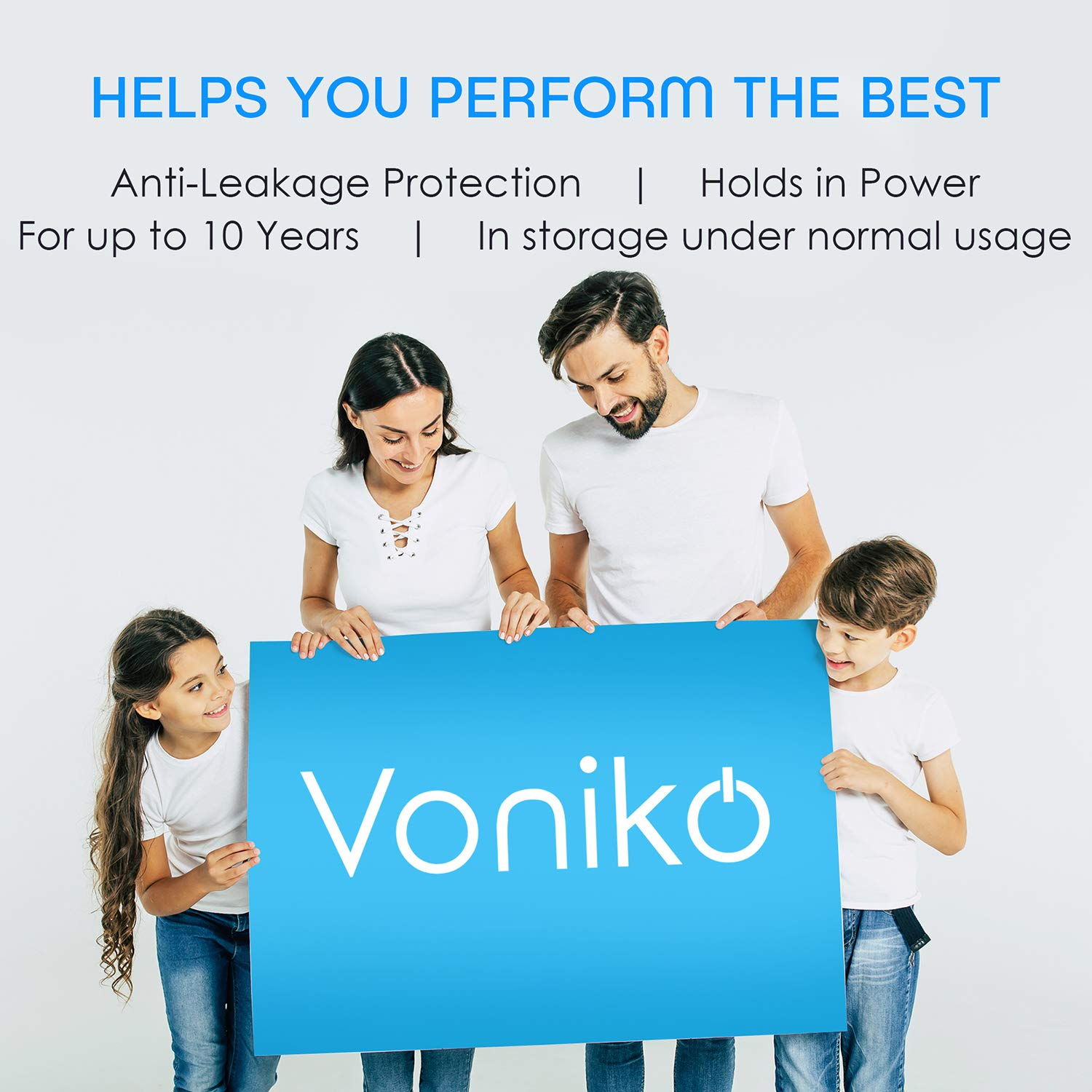 VONIKO Ultra Alkaline Triple A Batteries 24 Pack- Size AAA Batteries - 10 Year Shelf Life & 6-9 Times The Power As Carbon Batteries | AAA 1.5 Volt Battery - Battery Triple AAA | AAA Battery