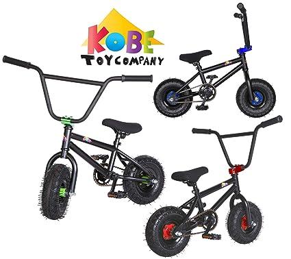 Amazon.com: Kobe Mini bicicleta BMX Color Negro Verde ...