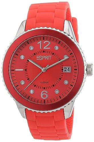 Esprit Damen-Armbanduhr Marin 68 Analog Silikon