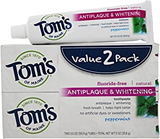 product image for Tom's of Maine Antiplaque and Whitening Toothpaste, 2 Count per Pack - 3 per case.