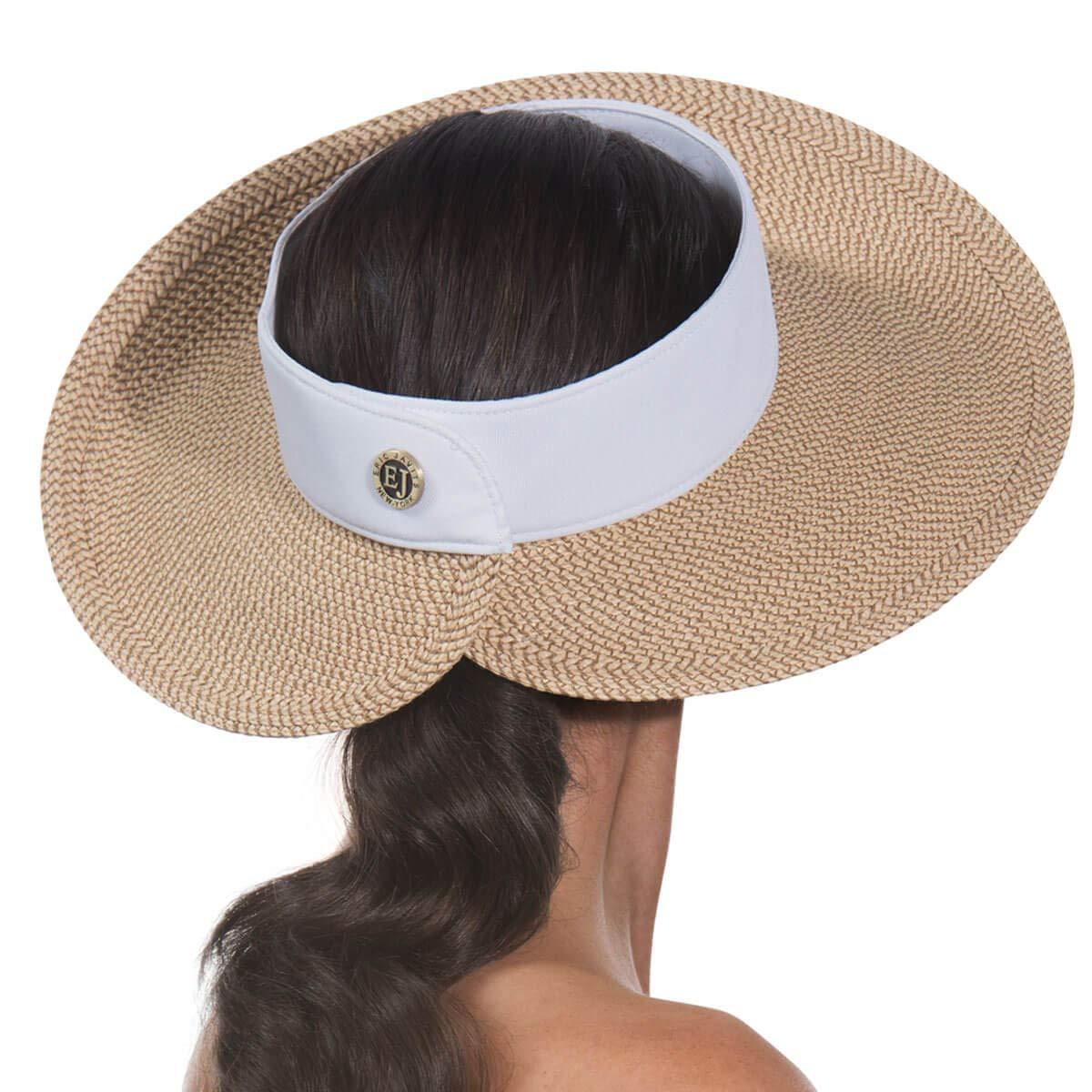 Eric Javits Luxury Women's Designer Headwear Hat - Squishee Halo - Peanut/White by Eric Javits (Image #3)