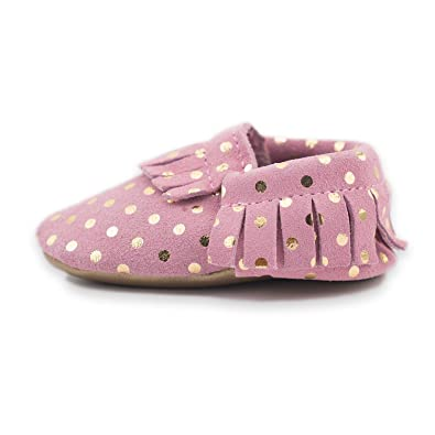 38c8469b7 CoCoCute Baby Moccasins Soft Leather Sole Infant Shoes and Toddler Moccasins  for Boys and Girls (