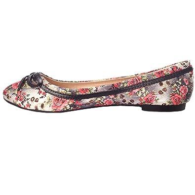 Blumen Ballerinas Freizeit zapatos  Farbverlauf & Oro Faden Faden Faden 36-41 34f70a