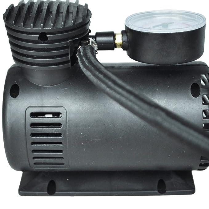 Amazon.es: SODIAL(R) 12v Coche Auto Electrica Bomba Aire Compresor Portable del Neumatico Inflado 300ps