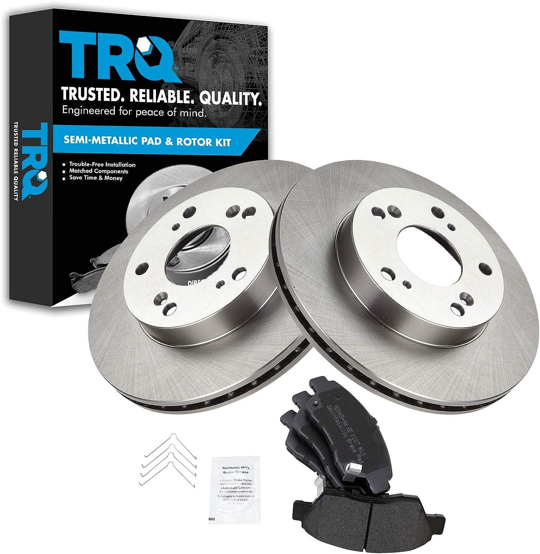 Front Rear Disc Brake Rotors And Semi-Metallic Pads Kit For Honda Civic