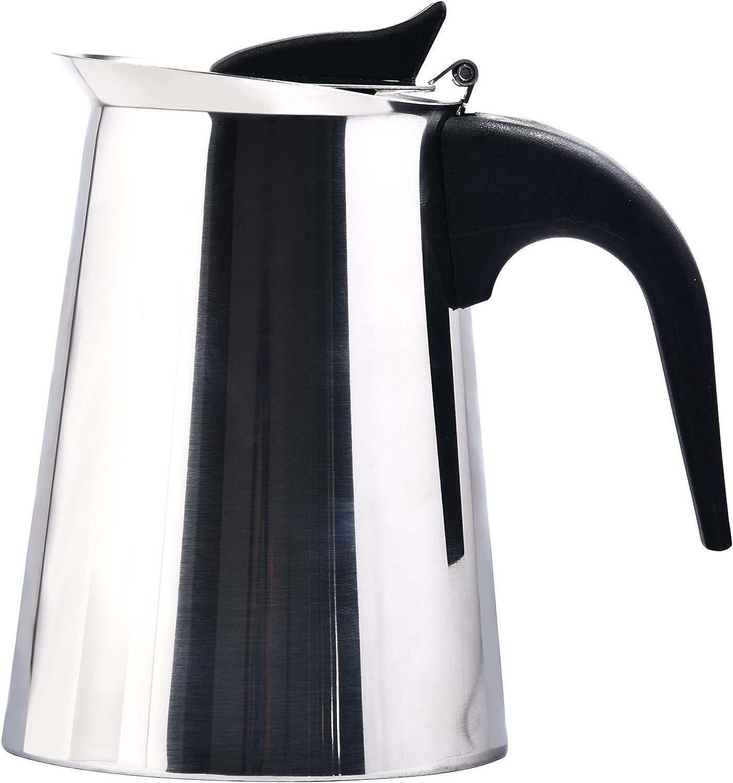 Cafetera de café para cafetera de café de espresso 4/6/9-Cup, cafetera italiana/cafetera italiana de acero inoxidable con filtro permanente y mango resistente al calor: Amazon.es: Hogar