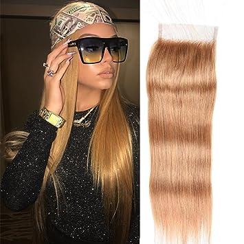 Amazoncom Black Rose Hair Lace Closure 27 Honey Blonde 4x4