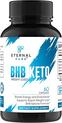 Keto Pills BHB Exogenous Ketones – Carb Blocker Appetite Suppressant by Eternal Pure