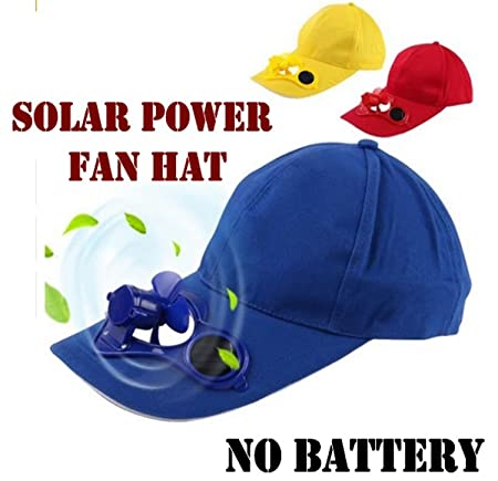 Global Craft Outdoor Solar Sun Power Hat Cap Cooling Cool Fan for Golf Baseball Sport Model 113146