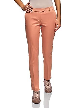 1b05a67e6 oodji Collection Femme Pantalon en Coton Stretch