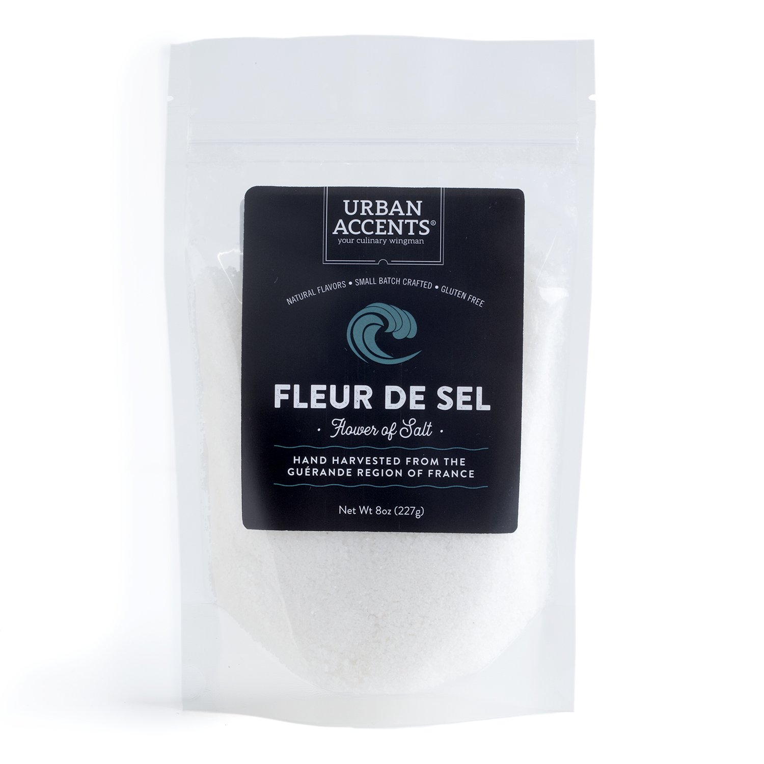 Urban Accents Urban Accents Fleur de Sel - Flower of Salt -Sea Salt from France, Great for Savory & Sweet Dishes and Hand Harvested by Wooden Tools, for an Airy, Fluffy Texture, 8 Ounces.