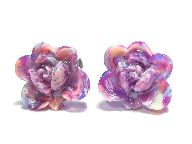 674c045de Amazon.com: Galaxy Rose Earrings - Romantic Roses: Handmade
