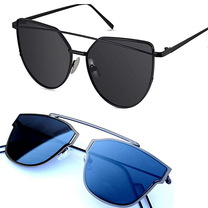 cbf2360676 Y S UV Protected Sunglasses for Men and Women (Blue)  Amazon.in  Clothing    Accessories