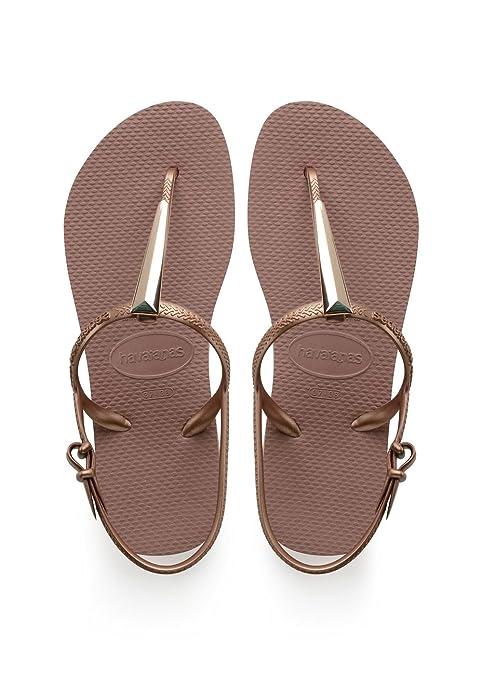 Havaianas Freedom Maxi Sandali con Cinturino alla Caviglia Donna Beige