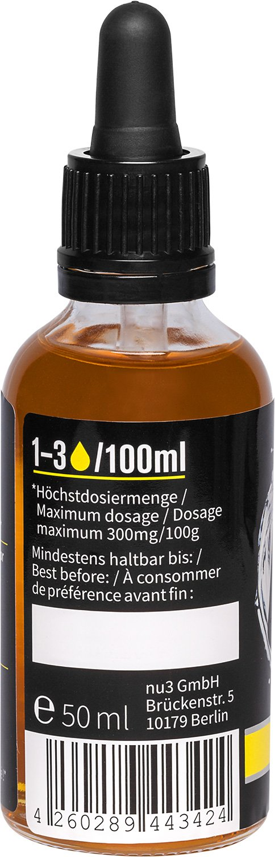 nu3 Fit Drops - Gotas aromáticas 50ml - Aroma líquido sabor lemon cake - Alternativa sin calorías, sin azúcar y sin gelatina | Ideal para combinar con ...