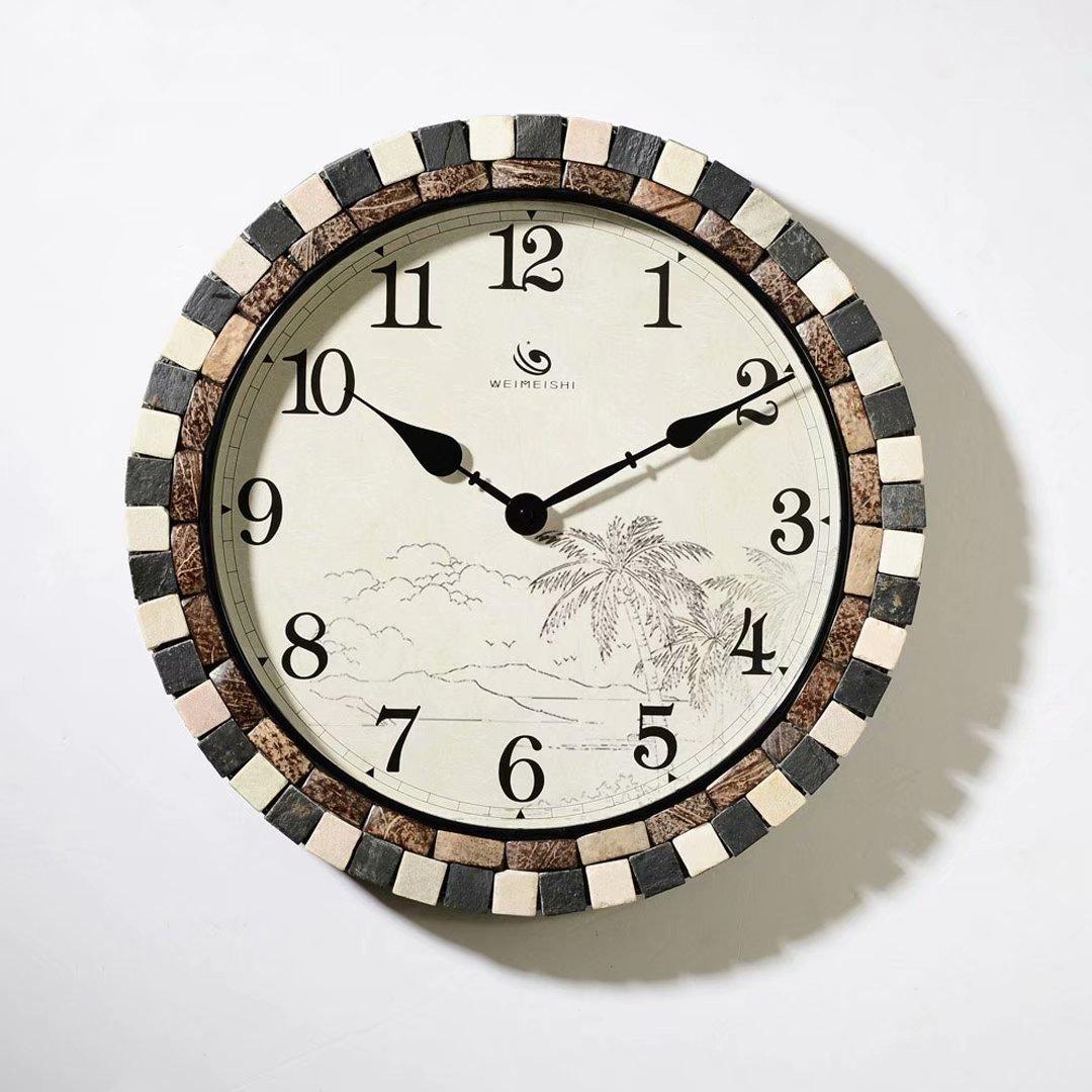 欧風 チューバ 掛け時計 現代 アイデア 客間 時計 ファッション 復古 個性的な 簡約 SFANY B07DTB6JR8