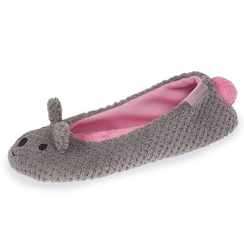 Isotoner - Zapatillas de Estar por Casa Mujer, Gris (Gris), 41/42 EU: Amazon.es: Zapatos y complementos