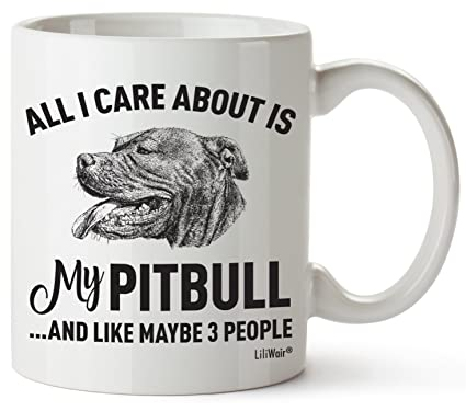 c79a6143d Pitbull Mom Gifts Mug For Women Men Dad Decor Lover Decorations Stuff I  Love Pitbulls Coffee