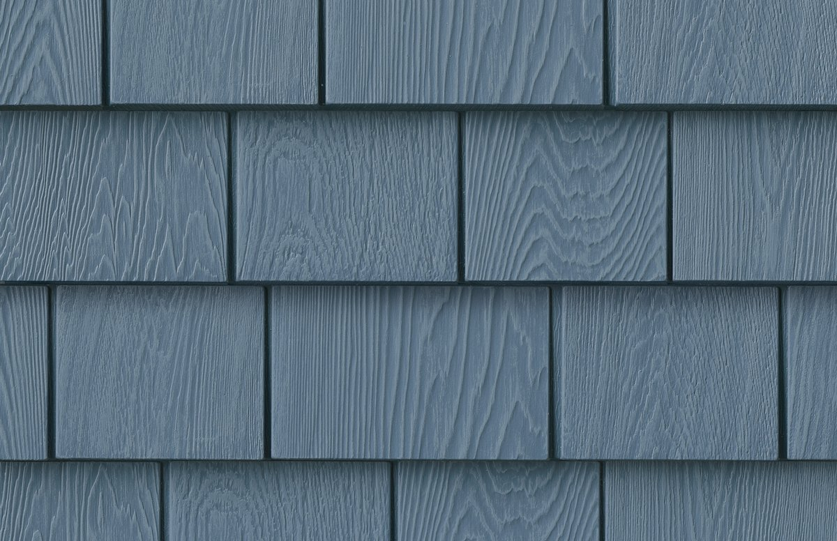 Grayne 6-1/2 in. x 60-1/2 in. Lakeside Blue Engineered Rigid PVC Shingle Panel 5 in. Exposure (24 per Box)