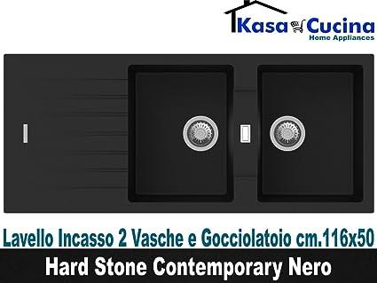 Lavello incasso cucina Hard Stone Contemporary Fragranite 2 Vasche e ...