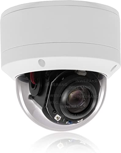 Security 5.0MP H.265 POE IP PTZ Camera,Hikvision Compatible, 5X 2.7-13.5mm AF Lens, Inwerang IP66 Waterproof Outdoor Indoor Vandalproof Network Dome Camera, Audio in, 98ft Night Vision, Onvif