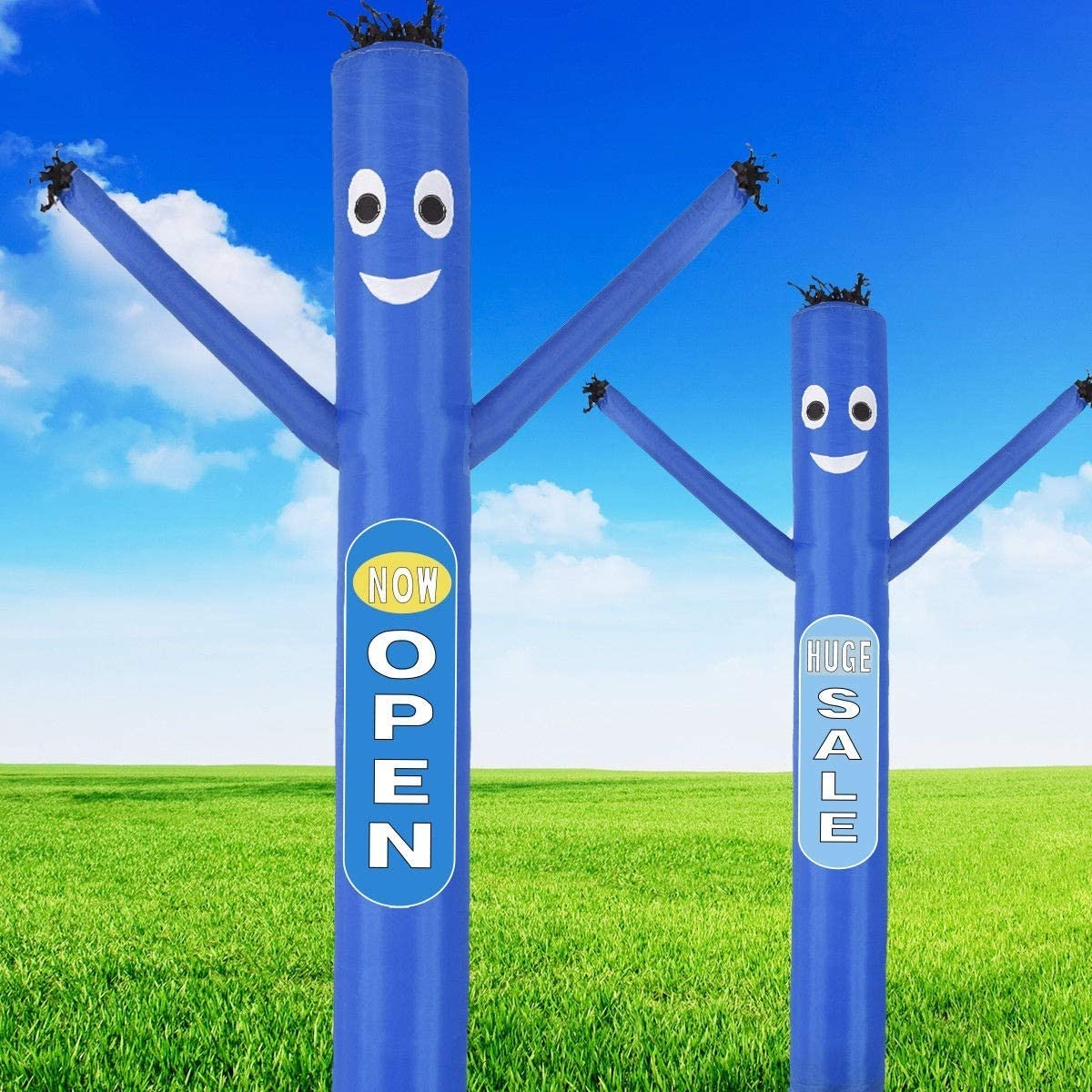 Blue Multi-Functional Commercial Promote Event Your Business Outdoor Display Inflatable Air Dancer Puppet Tube 10ft with Blower
