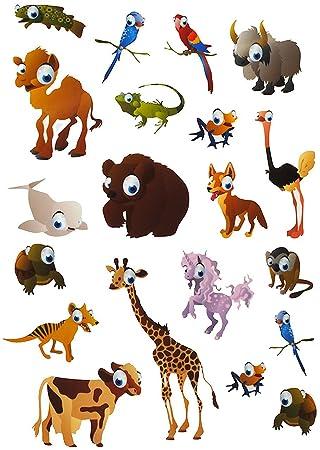 20 tlg. Set: Fensterbilder - Haustiere & Zootiere / Tiere ...