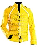 Freddie Mercury Yellow Wembley Faux Leather Jacket Costume