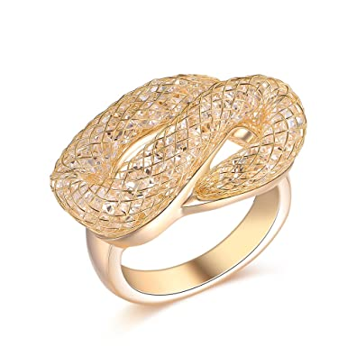 Amazoncom Mytys Fashion Rose Gold S Ring Costume Jewelry for