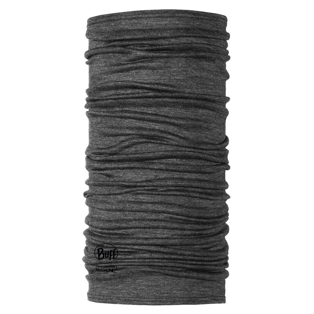 Buff lana Merino ligero multifuncional Headwear, color gris, tamaño talla única