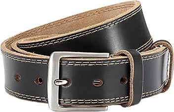Eg-Fashion Herren Jeansgürtel mit Steppnaht am Rand Casual Gürtel in 3,8 cm Breite - Individuell kürzbar