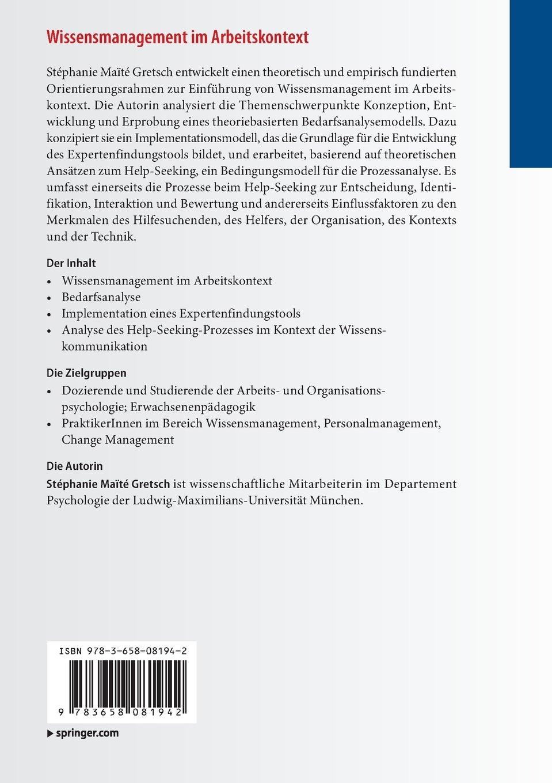Wissensmanagement im Arbeitskontext: Amazon.de: Stéphanie Maïté ...