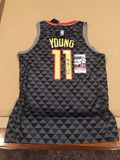 Trae Young Autographed Signed Custom Atlanta Hawks Jersey NBA Star with JSA  Coa - Size XL 7064c3035