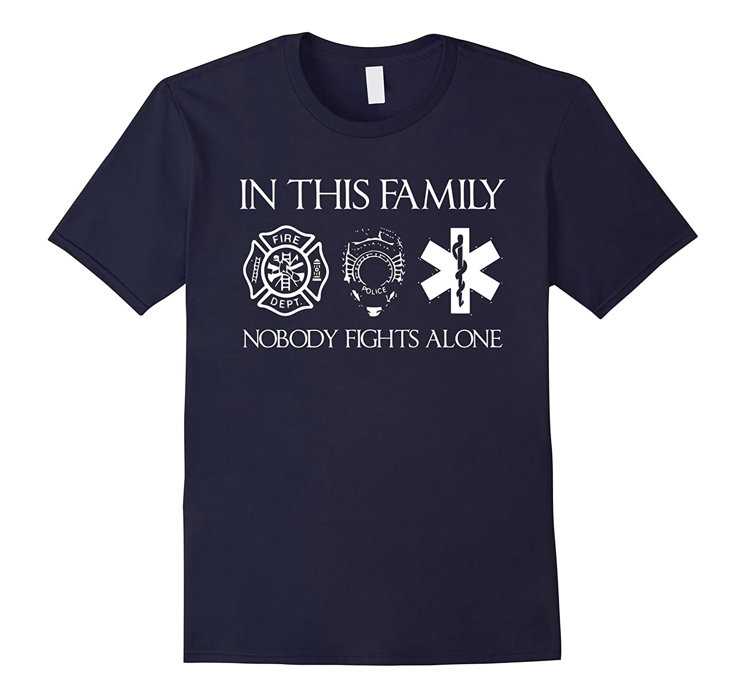 In this Family Nobody Fights Alone TShirt-RT