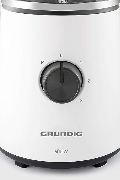 Grundig SM 6860 batidora, 1,5 L Recipiente de cristal, 600 W, con fruchf filtro, color blanco/negro: Amazon.es: Hogar