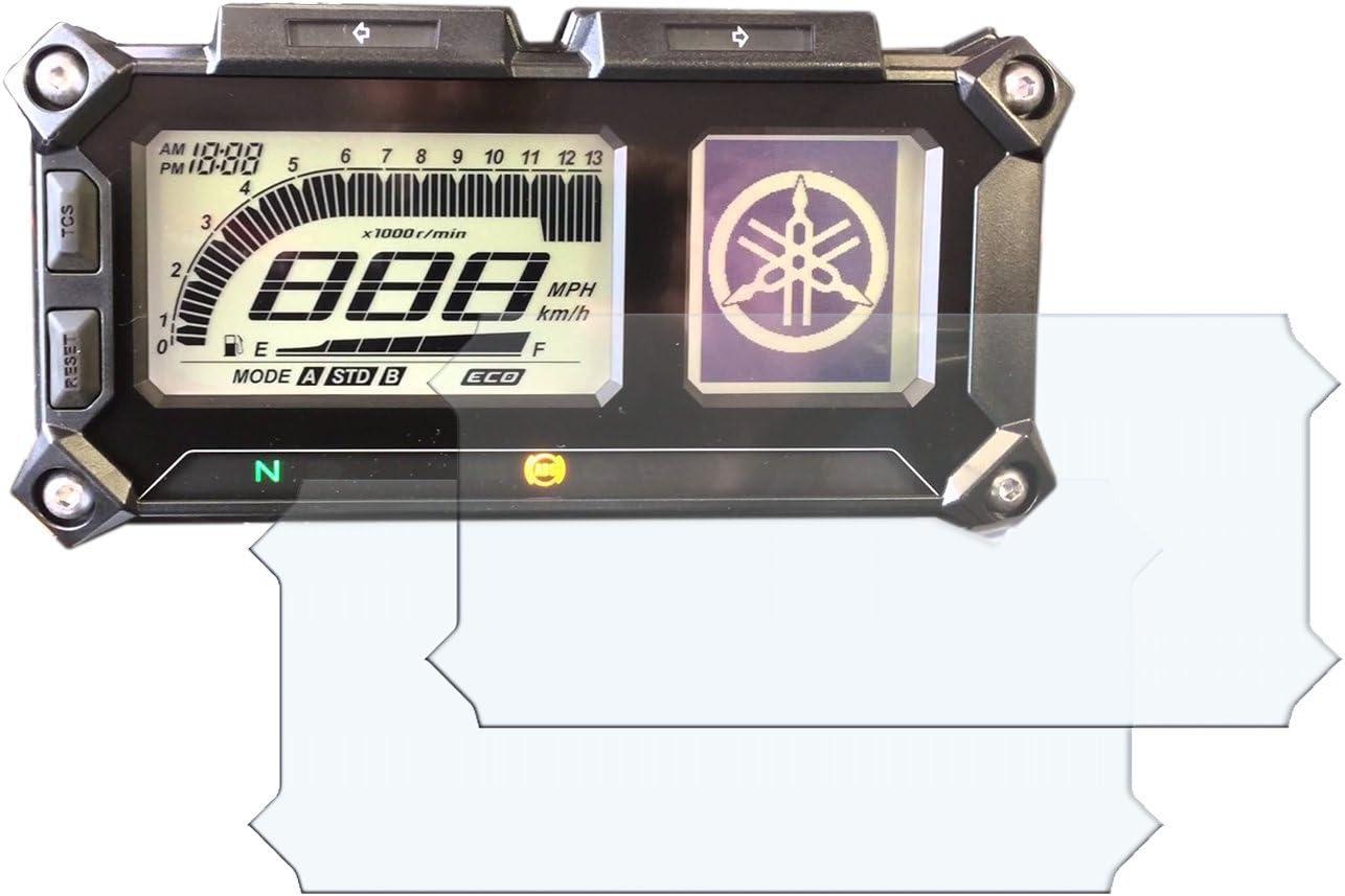 Yamaha Mt 09 900 Tracer Displayschutzfolie Tachoschutzfolie Screen Protector 1 X Ultra Clear 1 X Anti Glare Auto