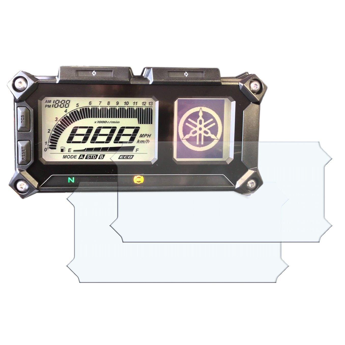 Speedo-Angels YAMAHA MT-09 900 TRACER tableau de bord / groupe d'instruments protecteur d'é cran - 1 x extrê mement clair & 1x anti-é blouissement SAYAM900TR11