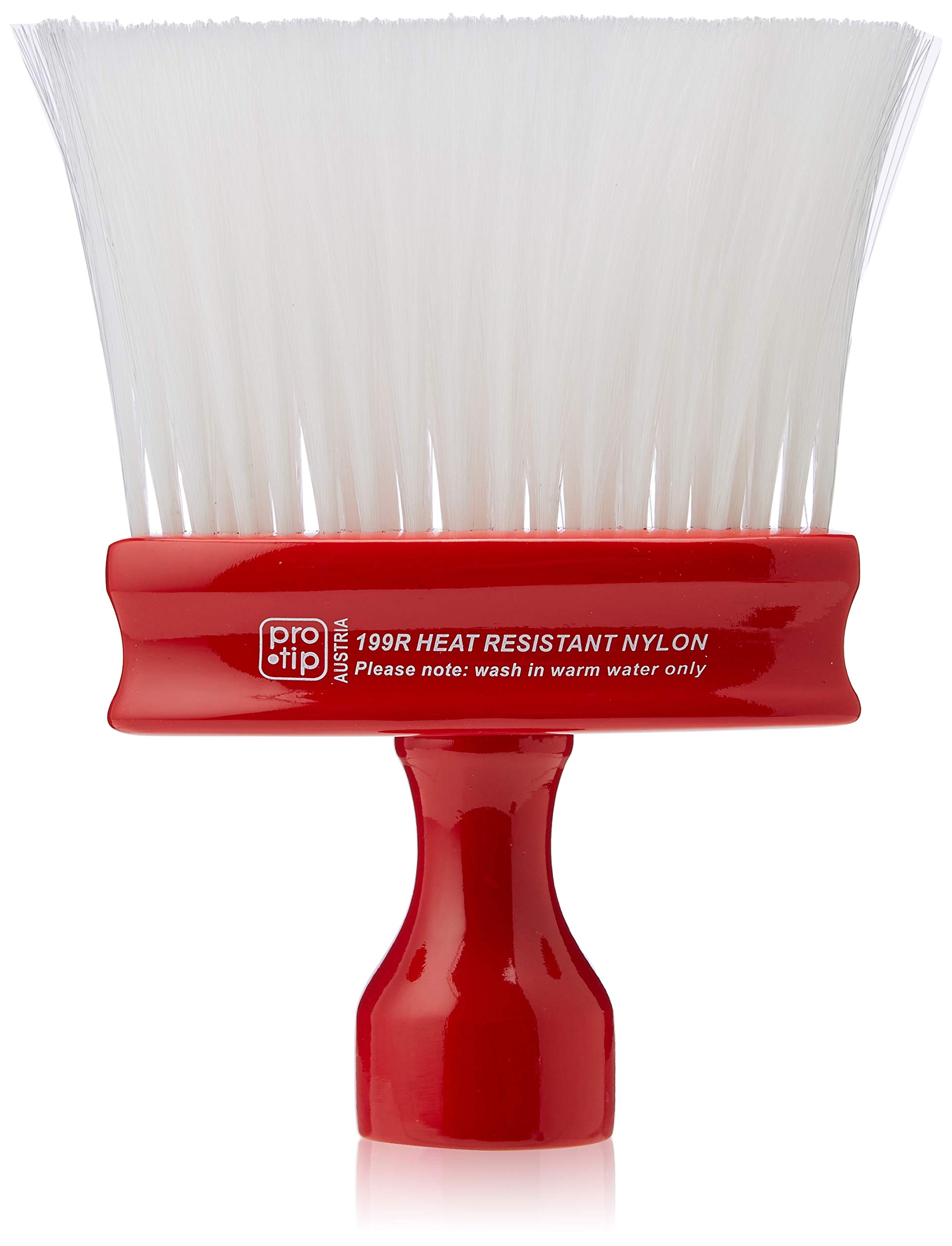 Pro-Tip Standard Neck Brush with White Nylon Bristle and Oval Handle, Red, Red1 Units