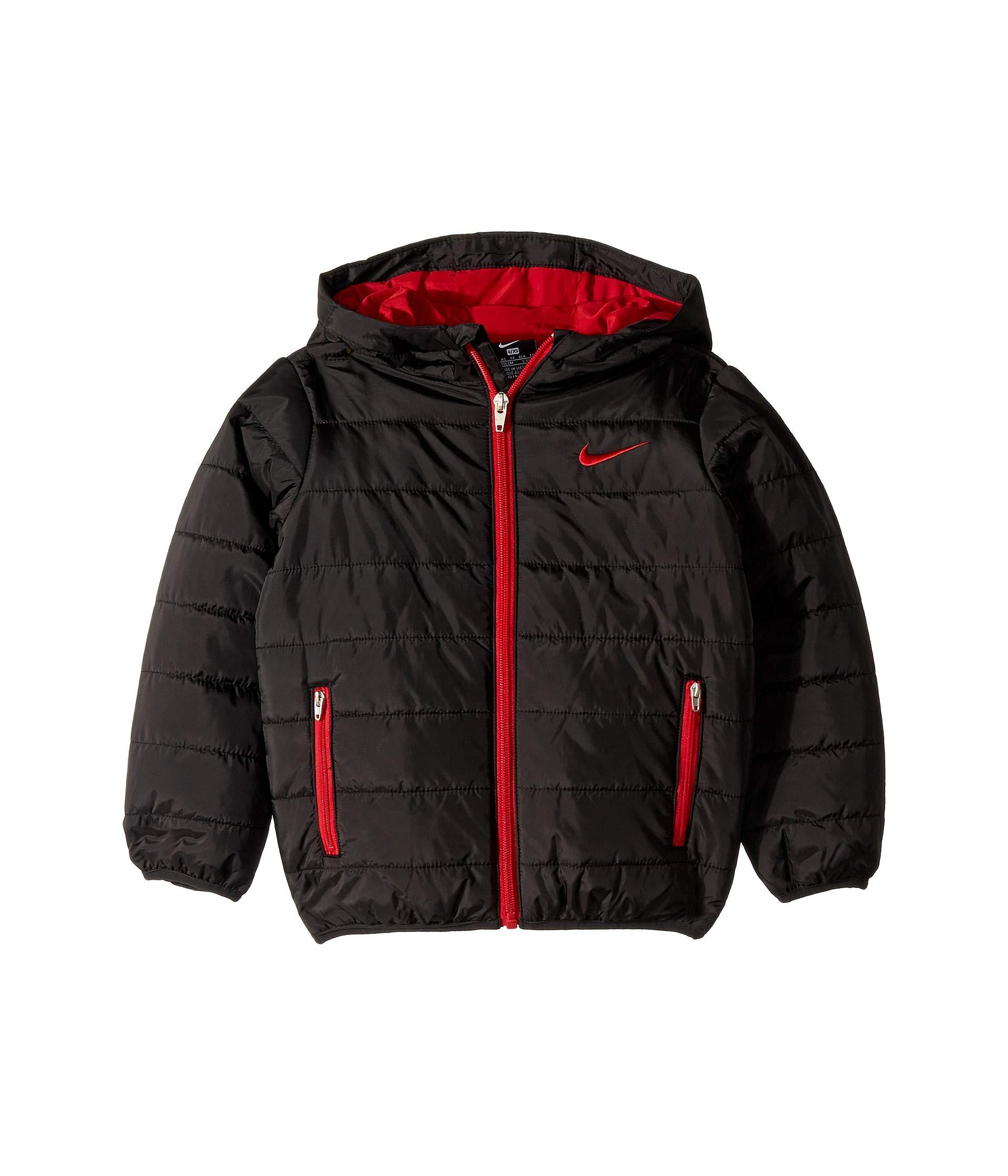 Nike Kids Boy's Quilted Jacket (Little Kids) Black 4 US Little Kid by Nike (Image #1)