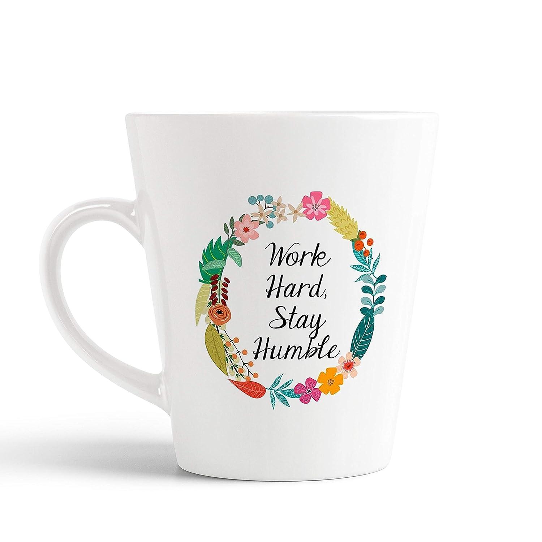 buy ikraft life quotes conical coffee mug work hard stay humble