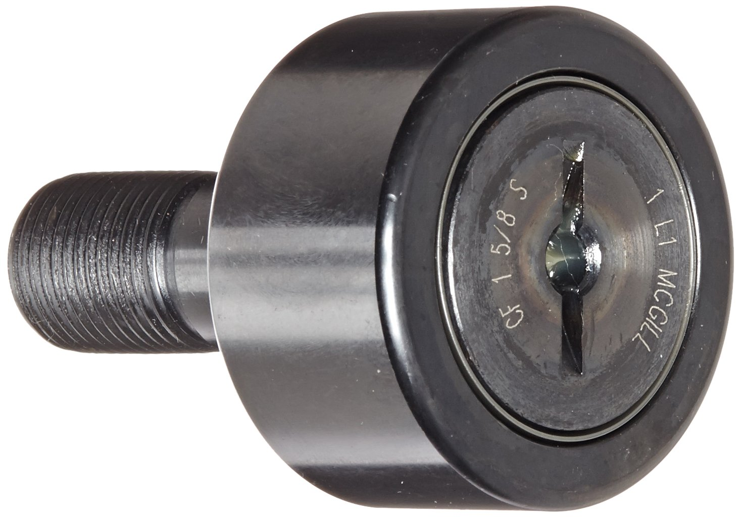 7//8 Roller Width 1-5//8 Roller Diameter Sealed//Slotted 0.625 Stud Diameter 1-5//8 Roller Diameter 7//8 Roller Width MCG-2150110000 McGill CF1 5//8S Cam Follower 5//8 Thread Size Inch 1-1//2 Stud Length 2-13//32 Overall Length Steel Standard Stud