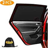 PEYOU Universal Rear Side Baby Car Window Sun Shades,【2020 Upgrade Version】 Breathable Mesh Car Sun Shade-Fit for 95% Cars-Pr