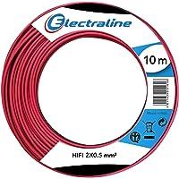 Electraline 90637018D Cable Unipolar HIFI 2X0.5 mm² 25M