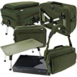 NGT Deluxe Two Tier Adjustable Anglers Fishing Box Case System with Bivvy Table