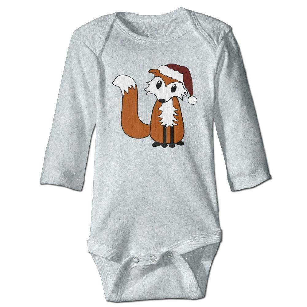 Babys Santa Hat Fox Long Sleeve Romper Onesie Bodysuit Jumpsuit