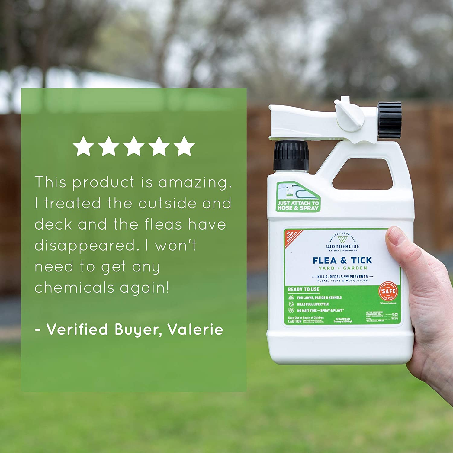 Wondercide Natural Ready to Use Yard Flea, Tick and Mosquito Spray –  Mosquito and Insect Killer, Treatment, and Repellent – Safe for Pets,  Plants,