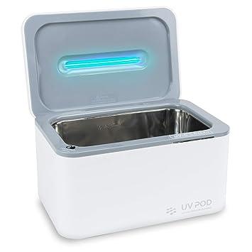 Amazon.com: Limpiador ultrasónico y desinfectante de luz UV ...