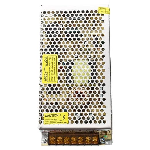 TOOGOO(R) Transformador Corriente de AC 110V 220V a DC 12V 16.7A 200W