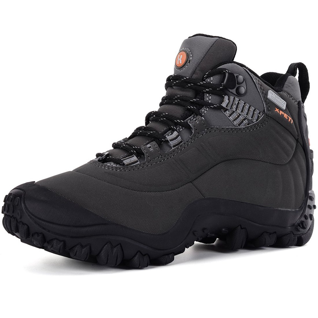 XPETI Men's Thermador Mid Waterproof Hiking Hunting Trail Outdoor Boot Charcoal Grey 10