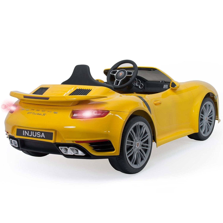 INJUSA-7182 Coche Porsche, Color Amarillo (7182): Amazon.es: Juguetes y juegos